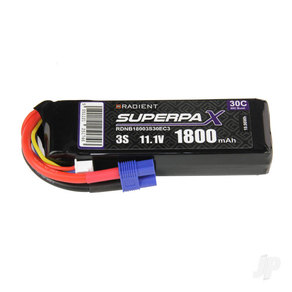 LiPo 3S 1800mAh 11.1V 30C EC3