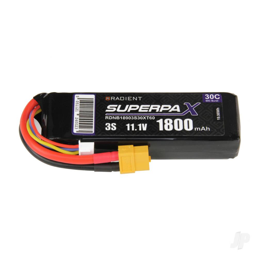 LiPo 3S 1800mAh 11.1V 30C XT60