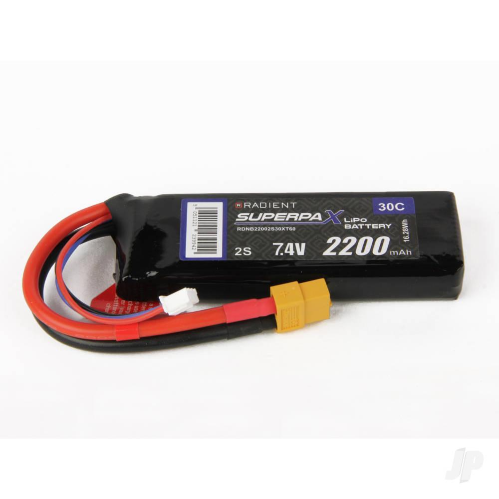 LiPo 2S 2200mAh 7.4V 30C XT60