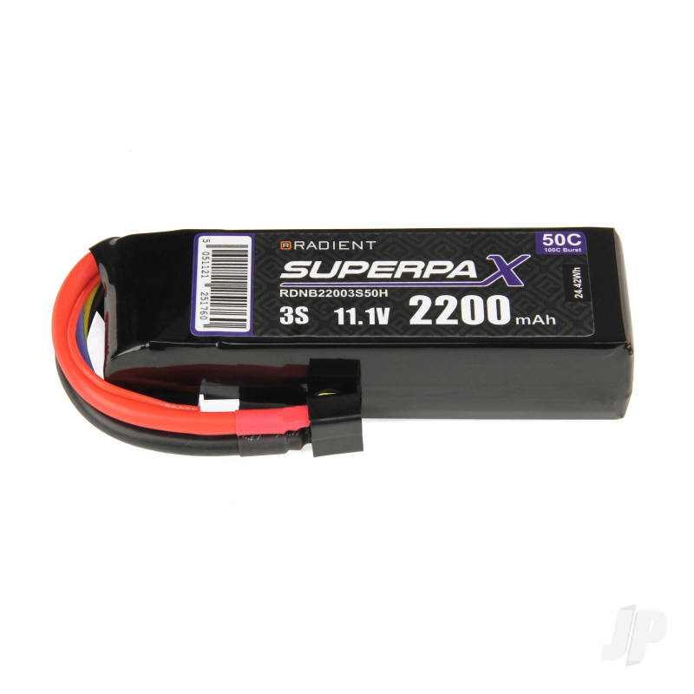 LiPo 3S 2200mAh 11.1V 50C Deans (HCT)