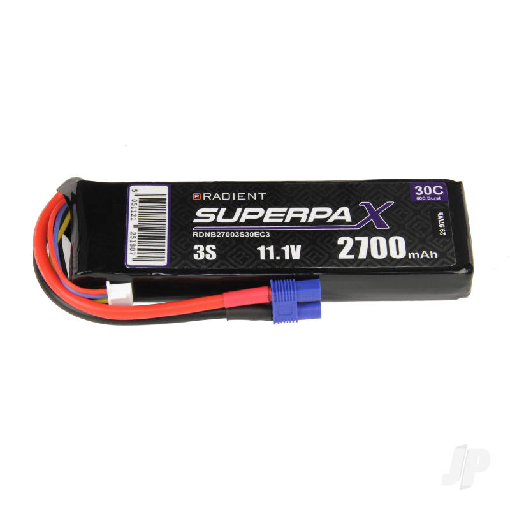 LiPo 3S 2700mAh 11.1V 30C EC3
