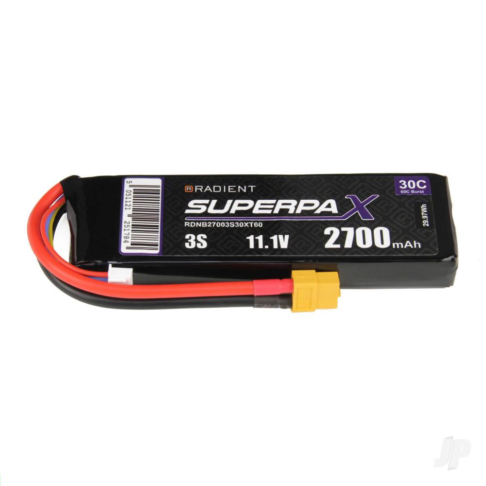 LiPo 3S 2700mAh 11.1V 30C XT60