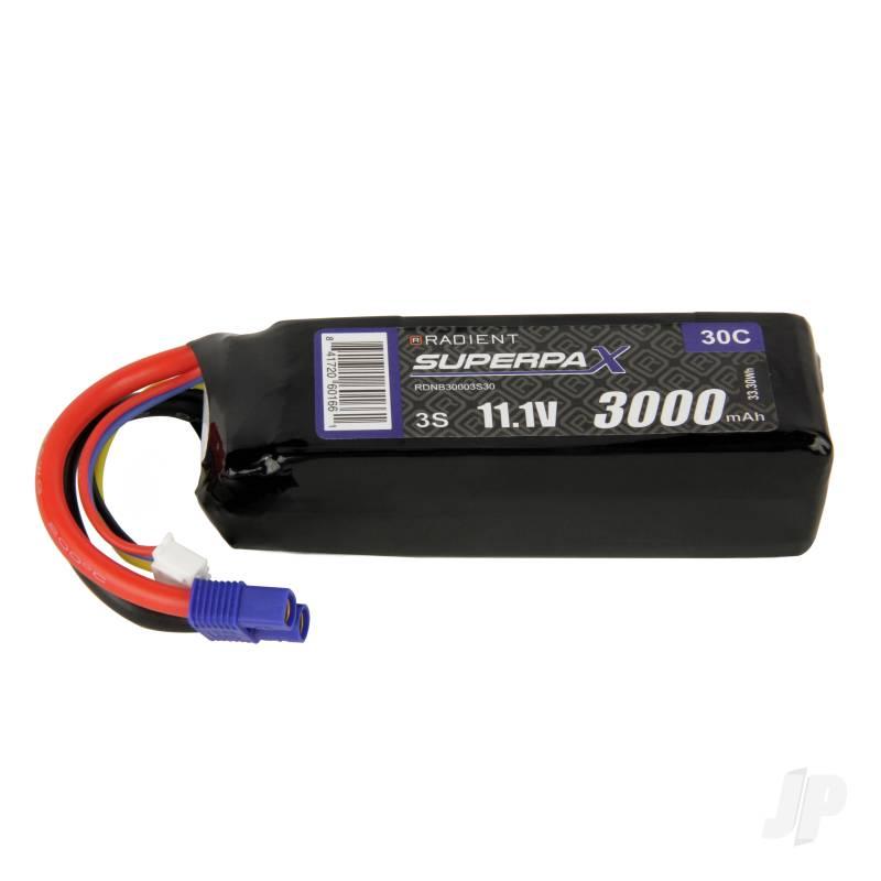 LiPo 3S 3000mAh 11.1V 30C EC3