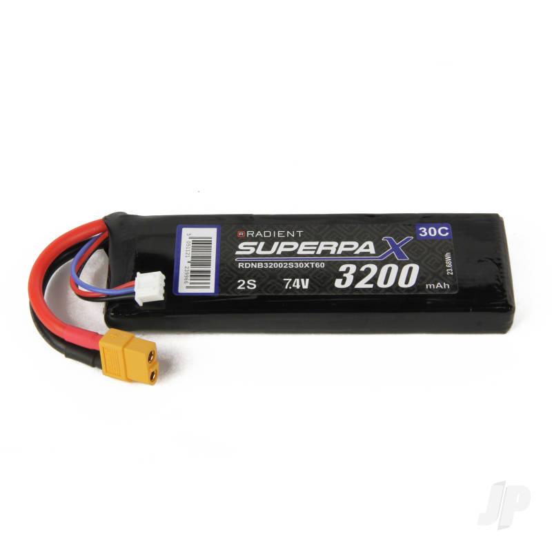 LiPo 2S 3200mAh 7.4V 30C XT60