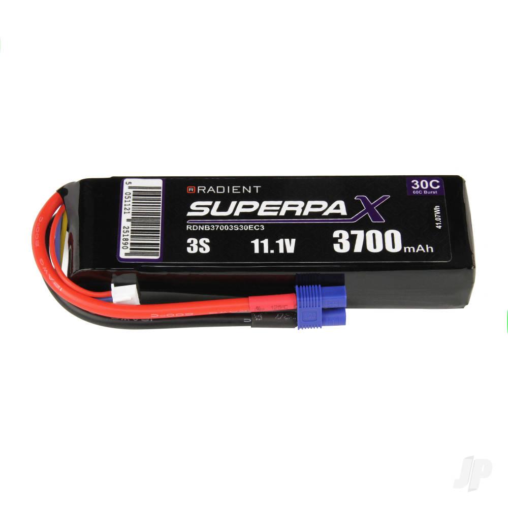 LiPo 3S 3700mAh 11.1V 30C EC3