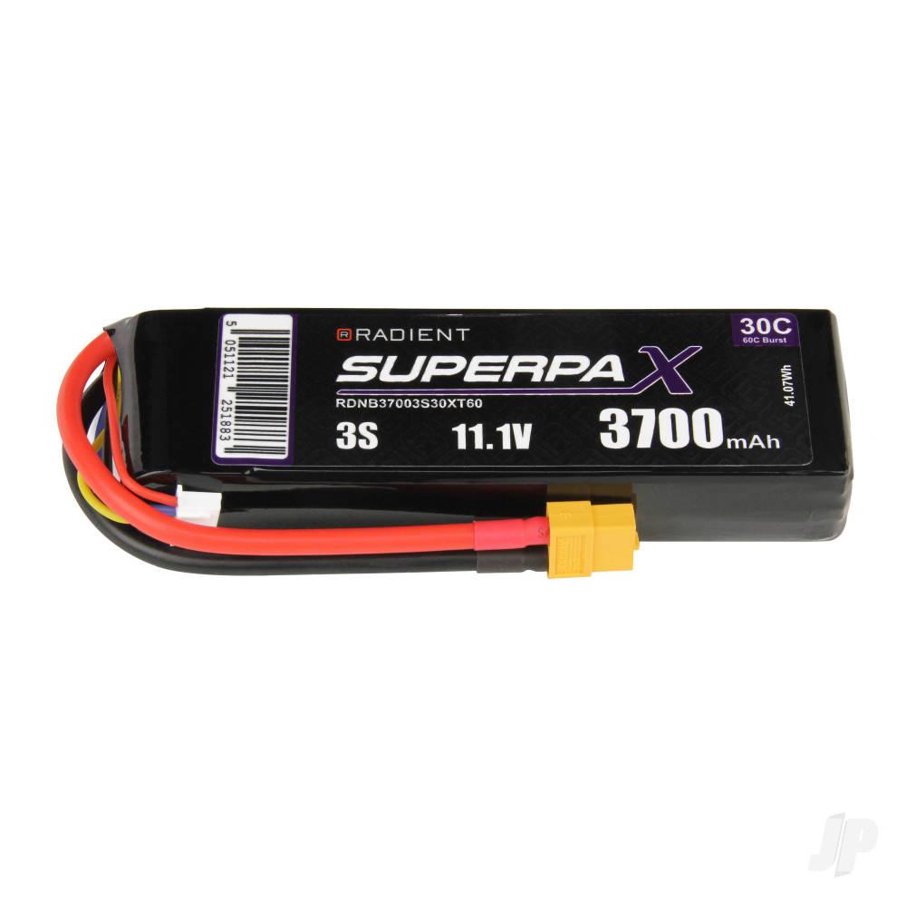LiPo 3S 3700mAh 11.1V 30C XT60