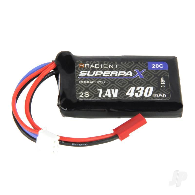 LiPo 2S 430mAh 7.4V 20C JST