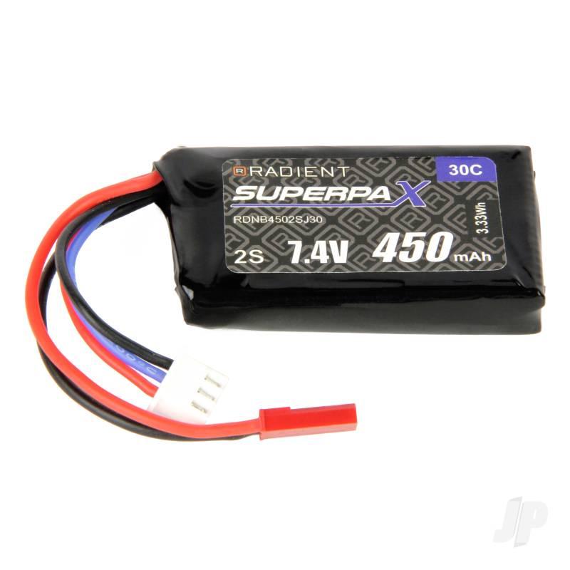 LiPo 2S 450mAh 7.4V 30C JST