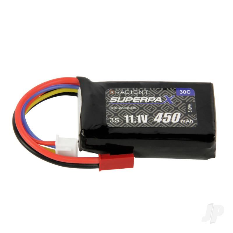 LiPo 3S 450mAh 11.1V 30C JST