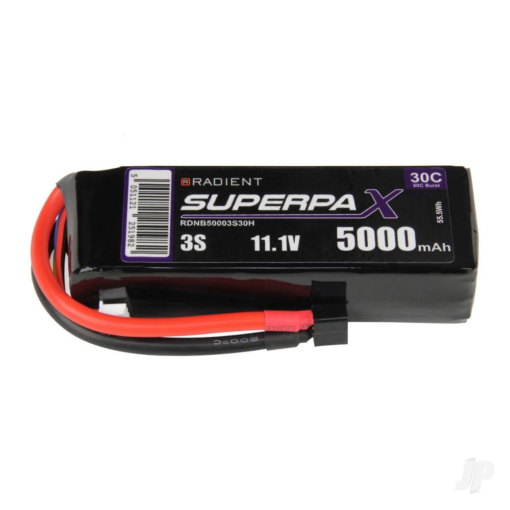 LiPo 3S 5000mAh 11.1V 30C Deans (HCT)