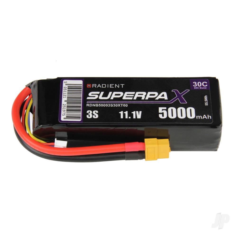 LiPo 3S 5000mAh 11.1V 30C XT60