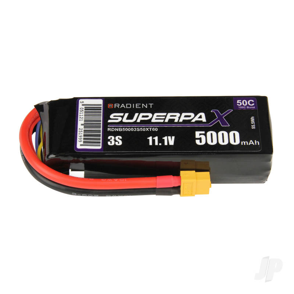 LiPo 3S 5000mAh 11.1V 50C XT60