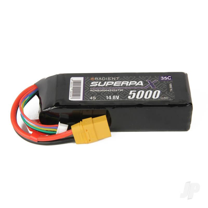 LiPo 4S 5000mAh 14.8V 35C XT90
