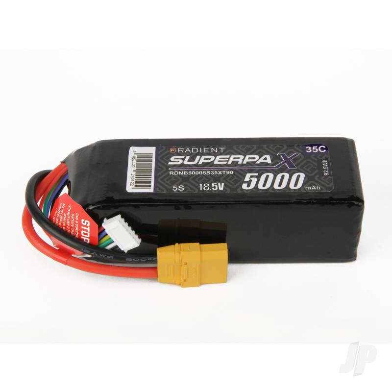 LiPo 5S 5000mAh 18.5V 35C XT90