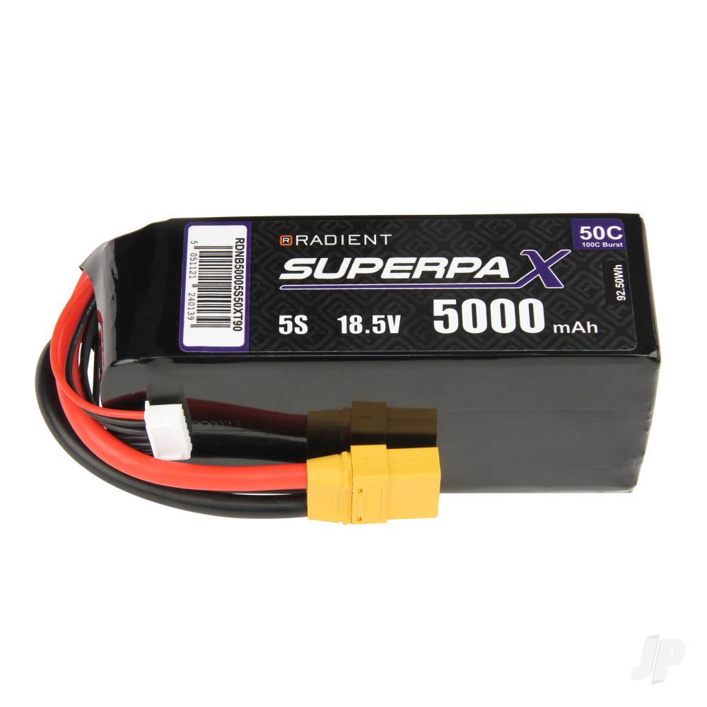 LiPo 5S 5000mAh 18.5V 50C XT90