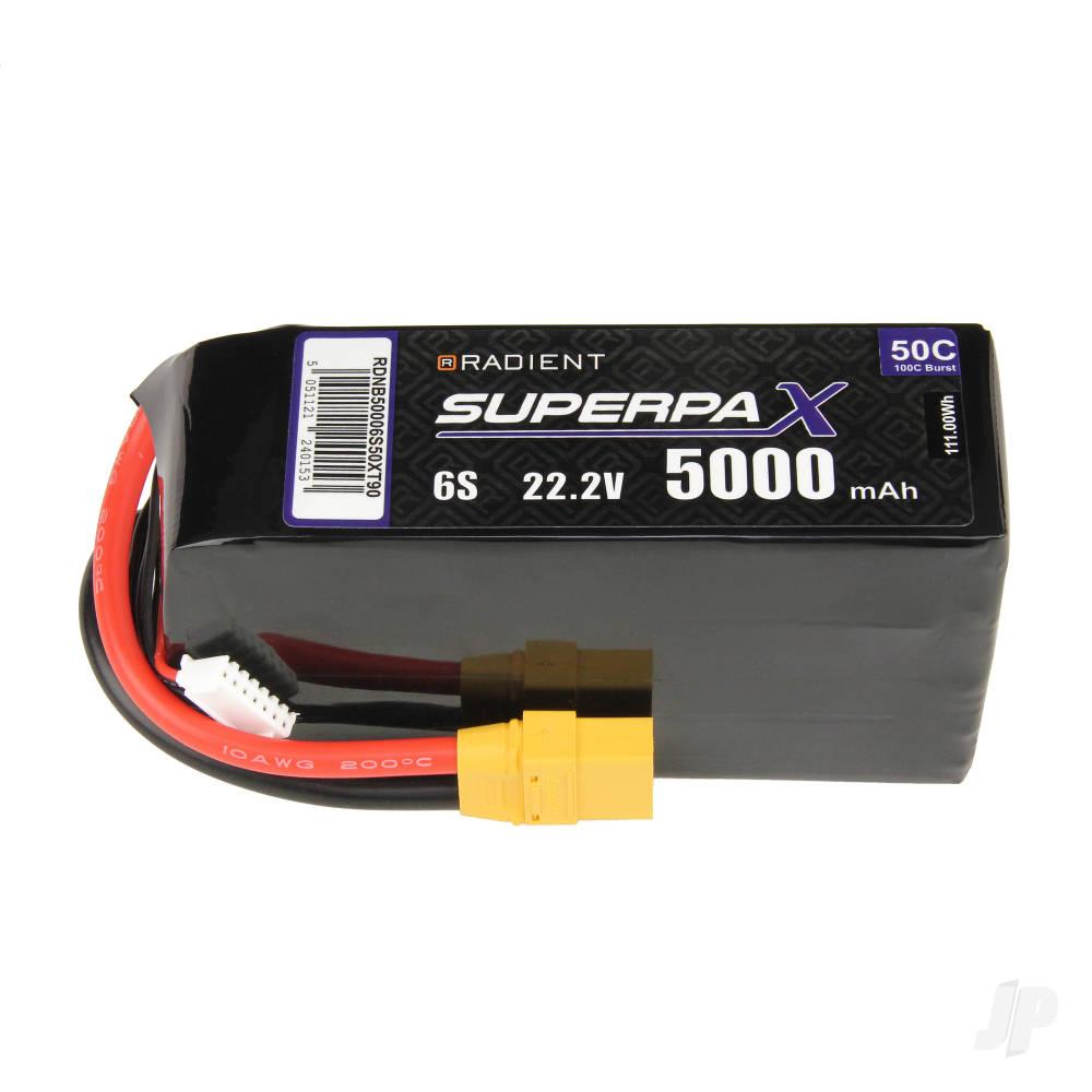 LiPo 6S 5000mAh 22.2V 50C XT90