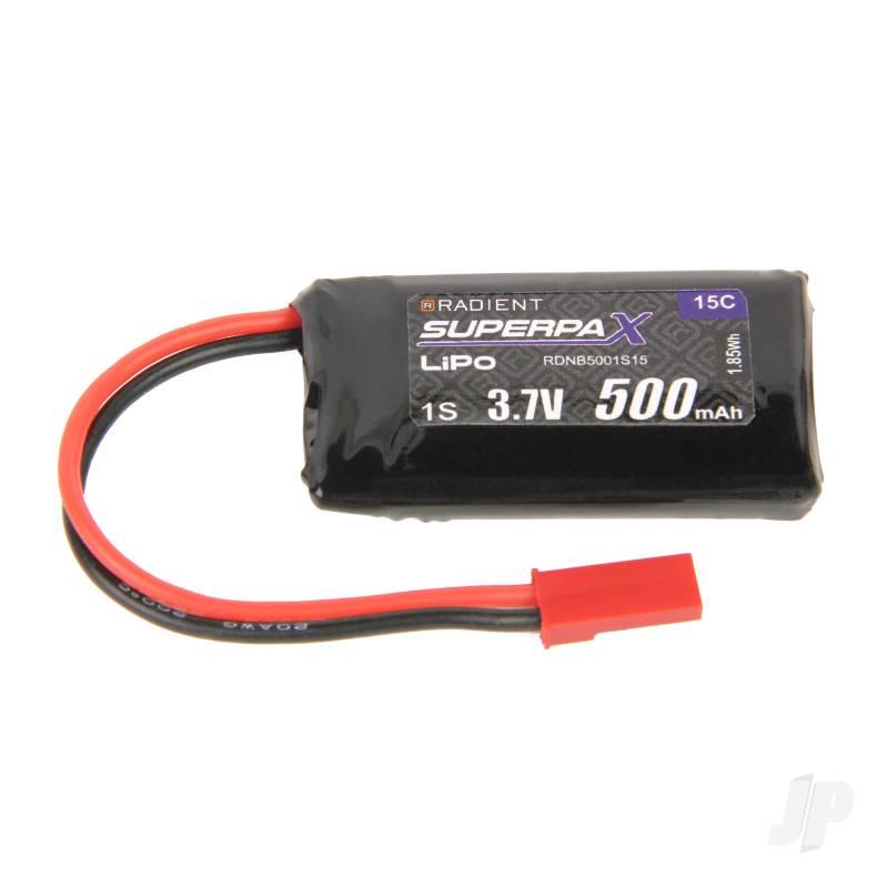 LiPo 1S 500mAh 3.7V 15C JST