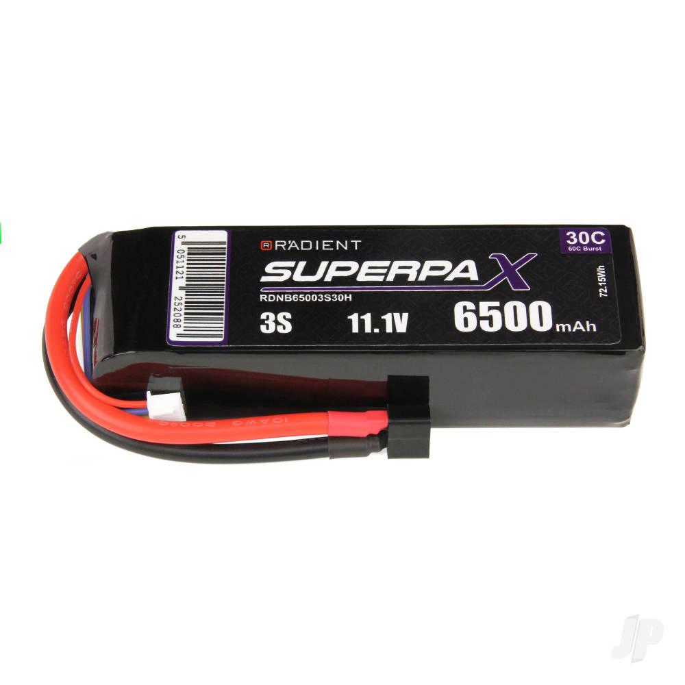 LiPo 3S 6500mAh 11.1V 30C Deans (HCT)