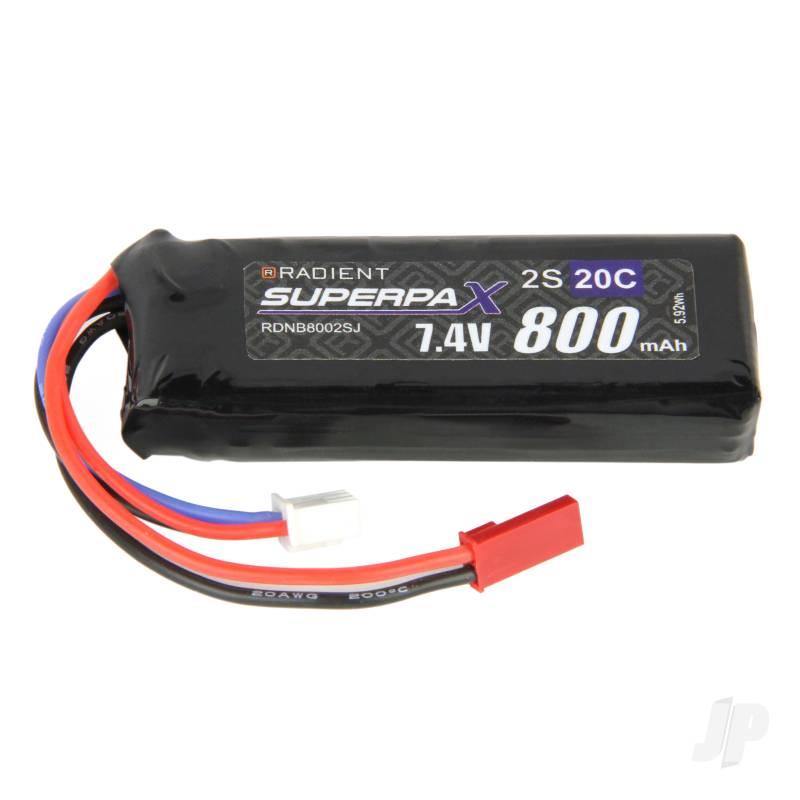 LiPo 2S 800mAh 7.4V 20C JST