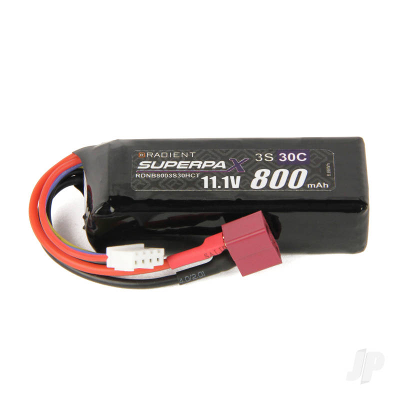 LiPo 3S 800mAh 11.1V 30C Deans (HCT)