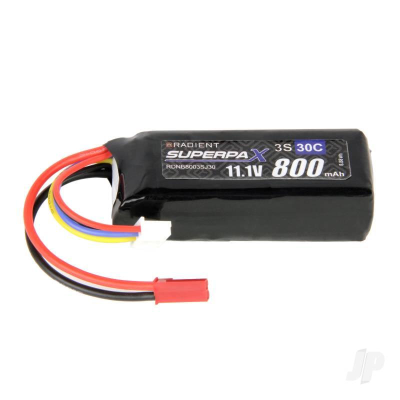 LiPo 3S 800mAh 11.1V 30C JST