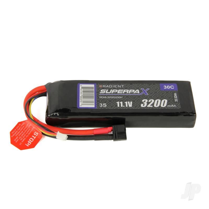 LiPo 3S 3200mAh 11.1V 30C Deans (HCT)