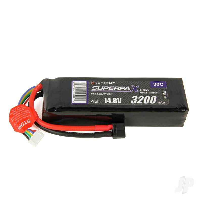 LiPo 4S 3200mAh 14.8V 30C Deans (HCT)
