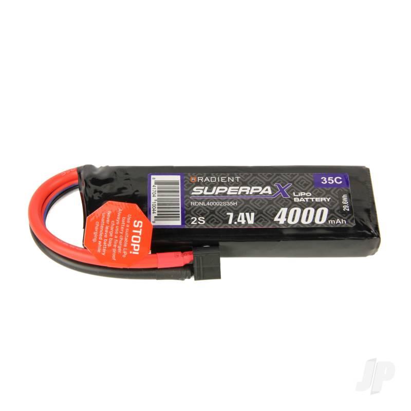 LiPo 2S 4000mAh 7.4V 35C Deans (HCT)