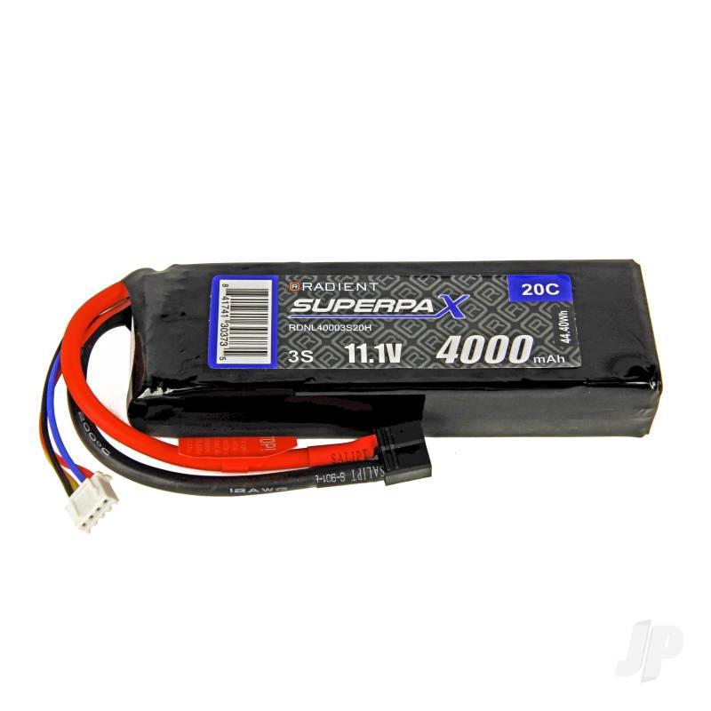 LiPo 3S 4000mAh 11.1V 20C Deans (HCT)