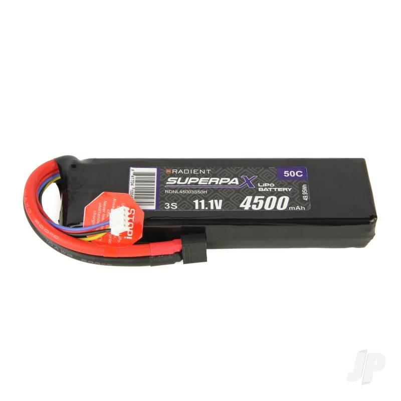 LiPo 3S 4500mAh 11.1V 50C Deans (HCT)