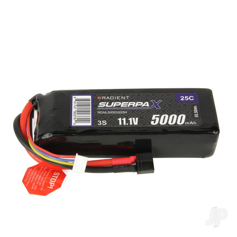 LiPo 3S 5000mAh 11.1V 25C Deans (HCT)