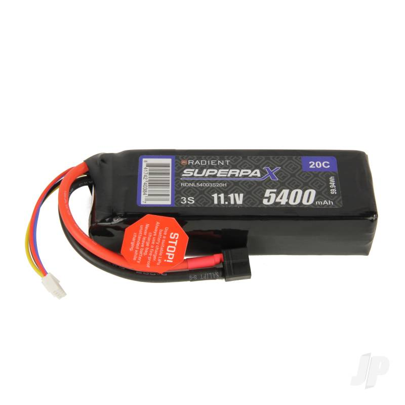 LiPo 3S 5400mAh 11.1V 20C Deans (HCT)