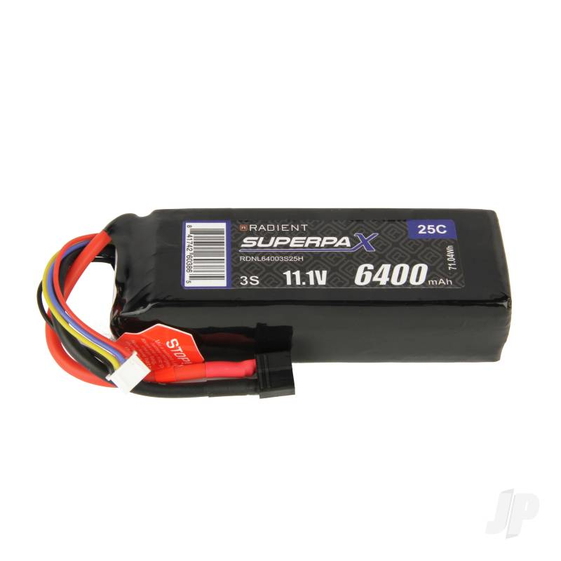 LiPo 3S 6400mAh 11.1V 25C Deans (HCT)
