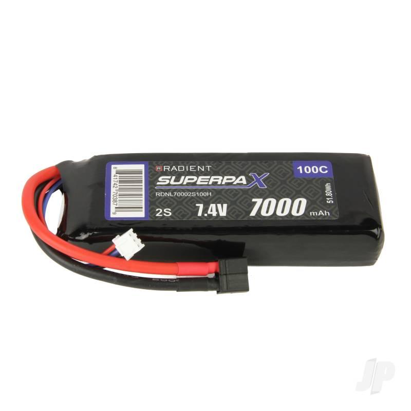 LiPo 2S 7000mAh 7.4V 100C Deans (HCT)