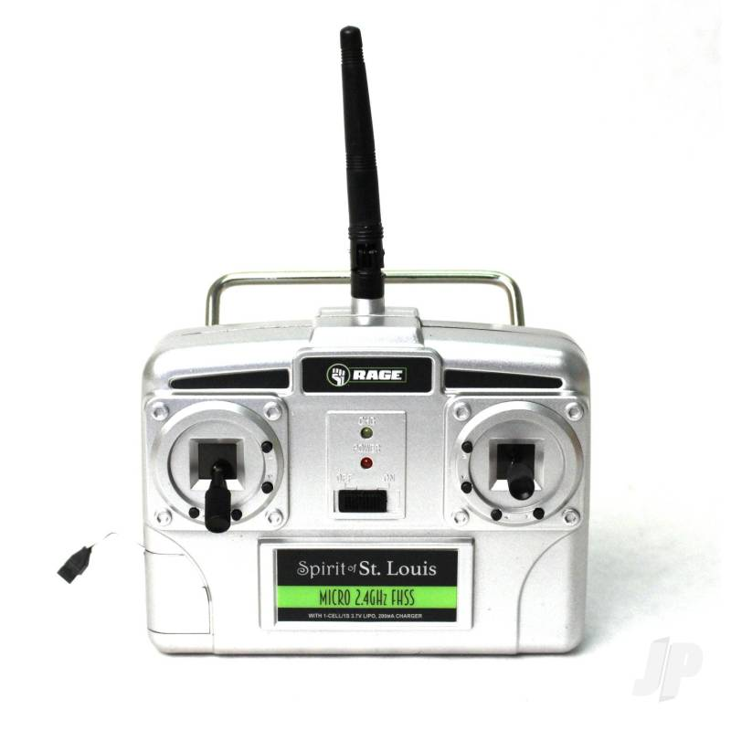 Micro 4-Channel Airplane TX with 200mAh Charger, Mode 2 (Spirit of St. Louis)