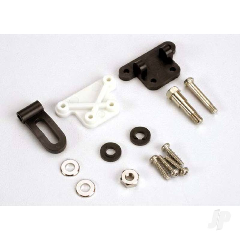 Trim adjustment bracket (inner) / trim adjustment bracket (outer) / trim adjustment lever / 3x16mm shoulder scre with 2.6x 10mm self-tapping screws (4pcs) / convex and concave trim lever washers / 4x21mm double shoulder scre with brass washers / nuts