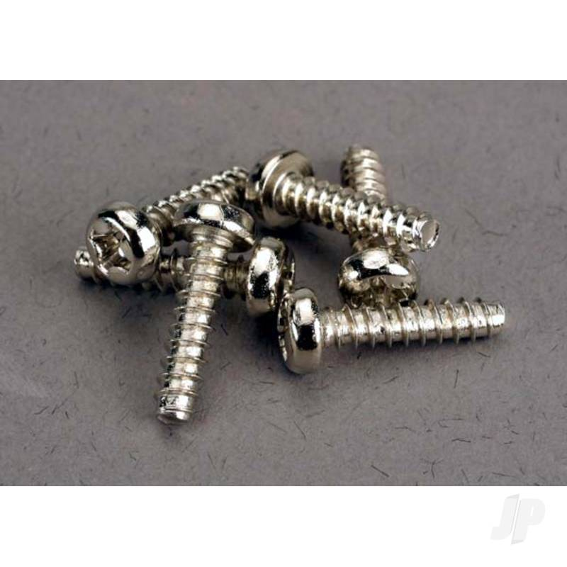 Screws, 3x12mm roundhead self-tapping (6pcs)