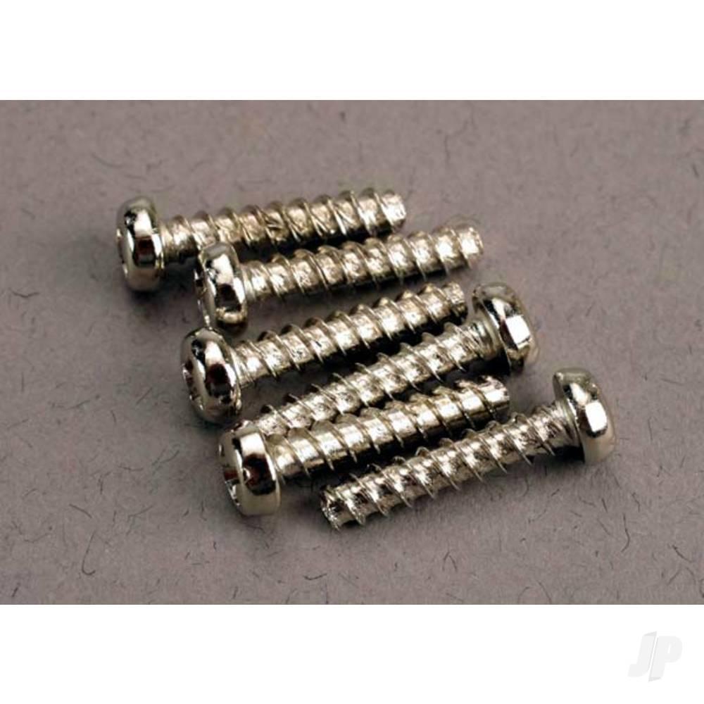 Screws, 3x14mm roundhead self-tapping (6 pcs)