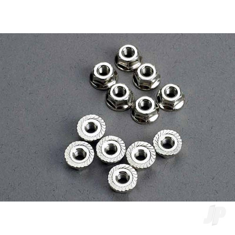 Nuts, 3mm flanged (12pcs)