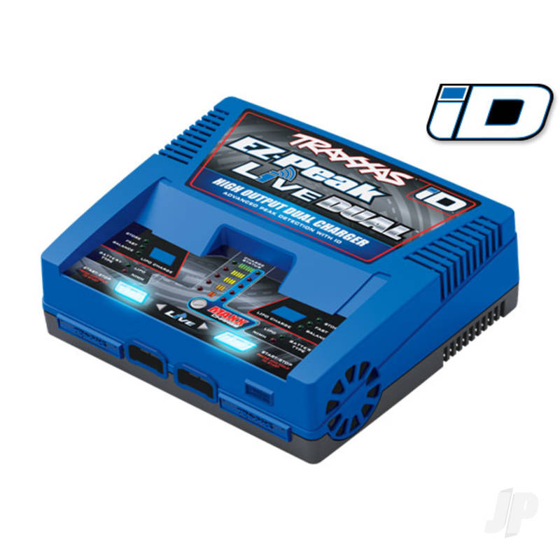 Charger, EZ-Peak Live Dual, 200W, NiMH / LiPo with iD Auto Battery Identification (for Europe)