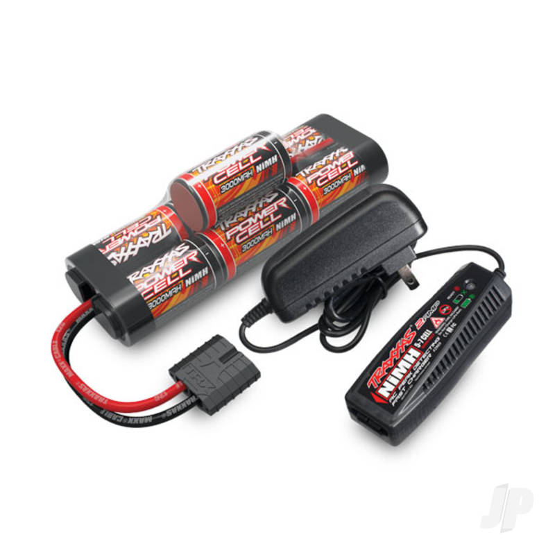 Battery / charger completer pack (includes #2969 2-amp NiMH peak detecting AC charger (1), #2926X 3000mAh 8.4V 7-cell NiMH battery (1)) (for Europe)