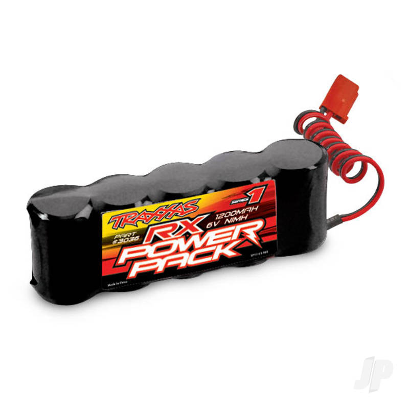 NiMH 6.0V 1200mAh 5-Cell RX Power Pack, Flat