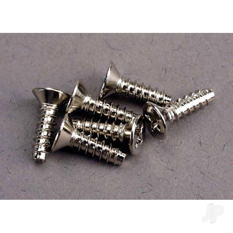 Screws, 3x10mm countersunk self-tapping (6pcs)