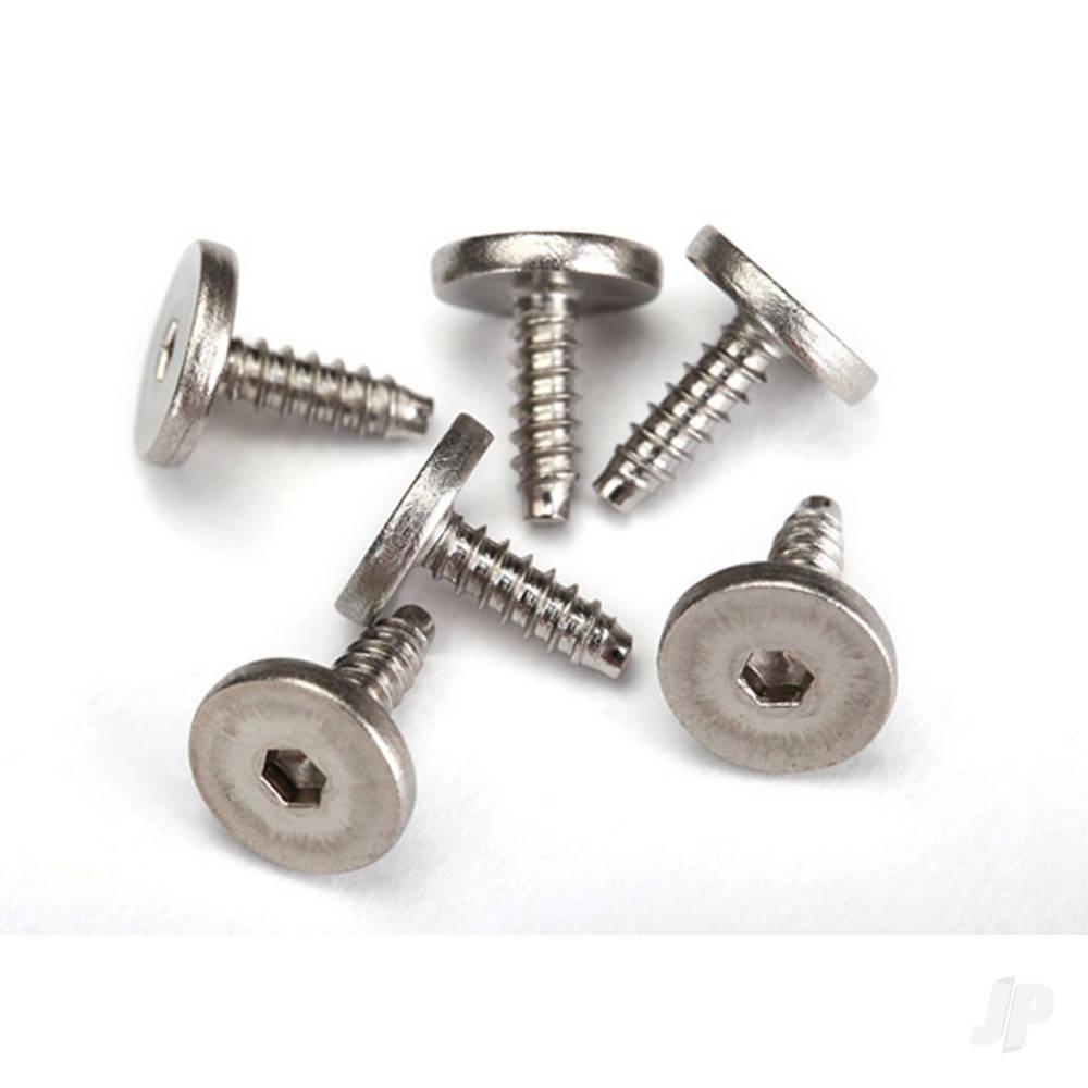 Screws, 2.6x8mm flat-head machine, self-tapping (hex drive) (6pcs)