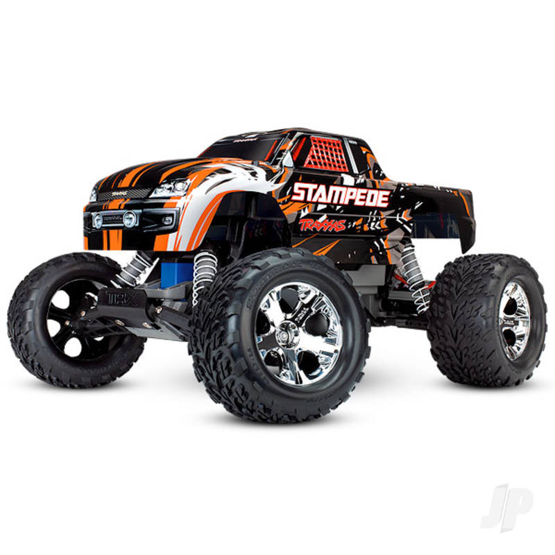 Orange Stampede 1:10 2WD Monster Truck (+ TQ, XL-5, Titan 550, 7-Cell NiMH, DC Charger)