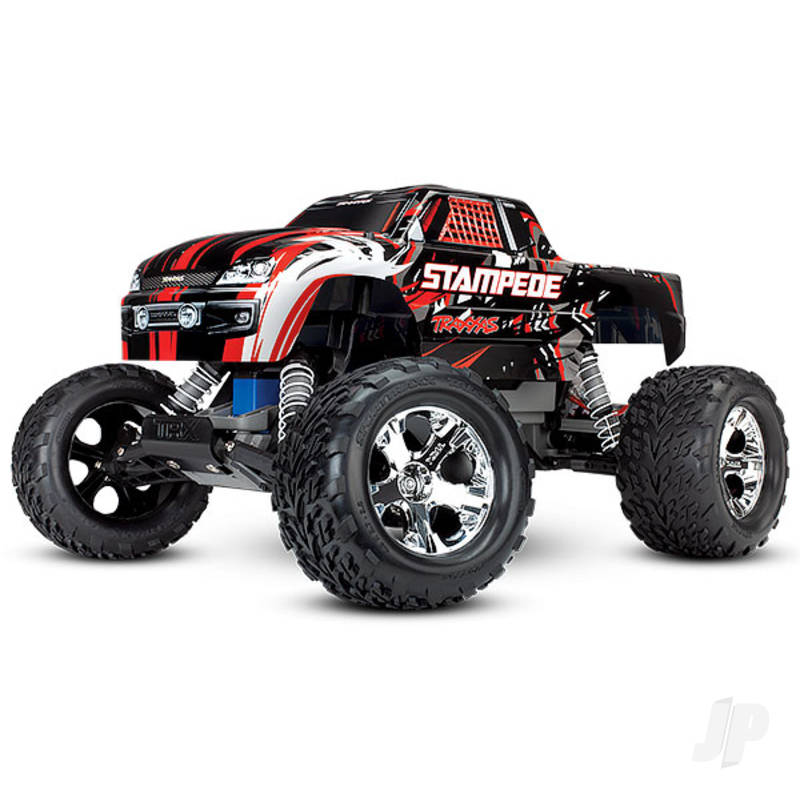Red Stampede 1:10 2WD Monster Truck (+ TQ, XL-5, Titan 550, 7-Cell NiMH, DC Charger)
