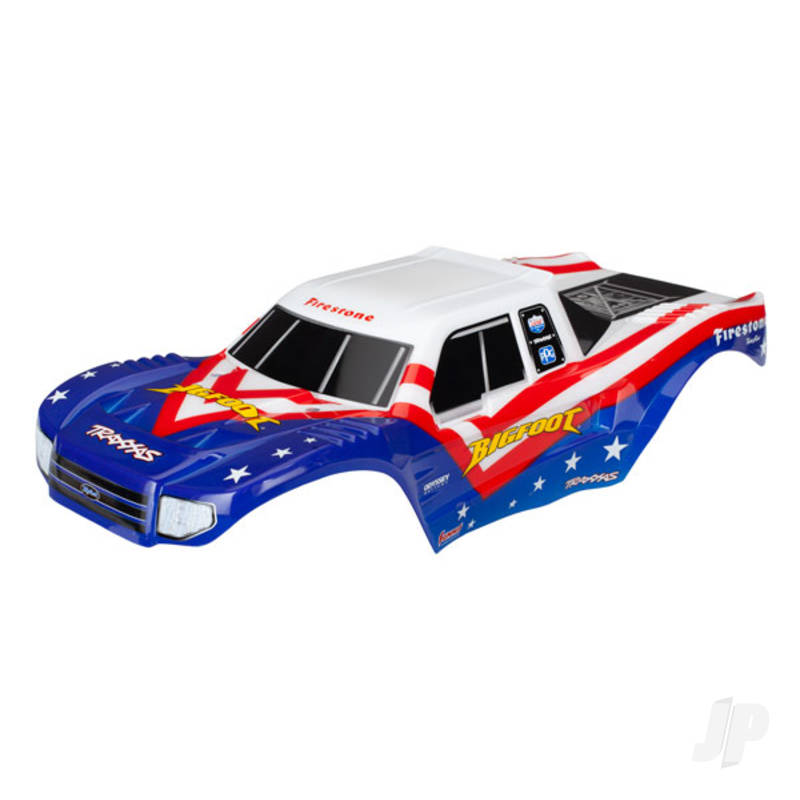Body, Bigfoot Red, White, & Blue, Officially Licensed replica (painted, decals applied)