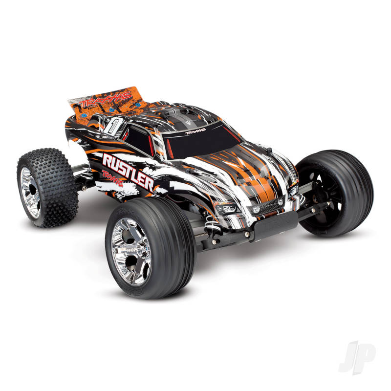 Orange Rustler 1:10 Stadium Truck with TQ 2.4 GHz radio system
