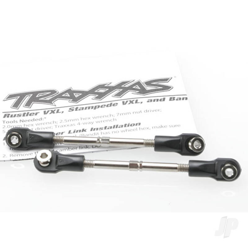 Turnbuckles, toe link, 59mm (78mm center to center) (2pcs) (assembled with rod ends and hollow balls)