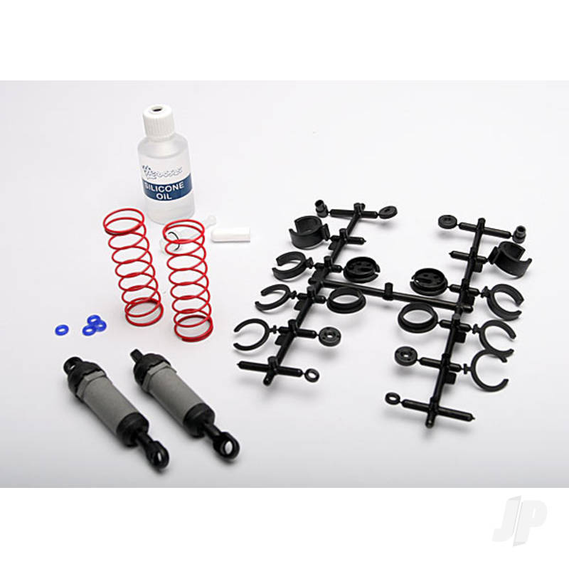 Ultra shocks (grey) (Long) (complete with spring pre-load spacers & springs) (2pcs)